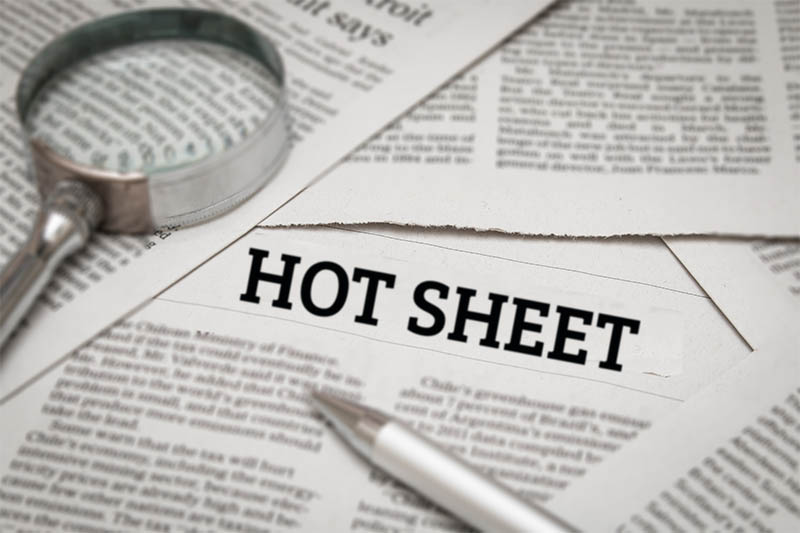 Latest Hot Sheet