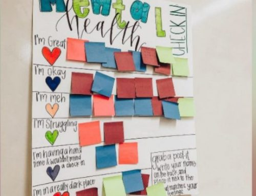 Teacher uses affirmation station, check-in chart to help students' mental health